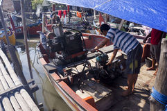 Réparation du bateau Images stock