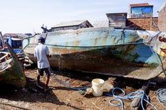 Réparation du bateau Photographie stock