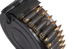 RPD-44 round ammunition box with machine-gun belt Stock Images