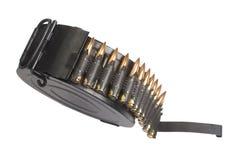 RPD-44 round ammunition box with machine-gun belt Stock Photo