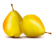 Rpe pear  on white. Vector Royalty Free Stock Images