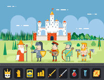 RPG Adventure  Mobile Tablet PC Web Game Screen Royalty Free Stock Photos
