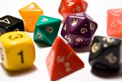 Rpg Dice Stock Photography