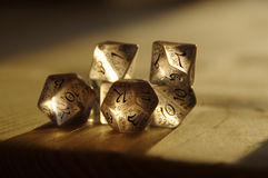 RPG dice for Dungeons and Dragons Royalty Free Stock Images