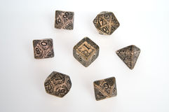 RPG dice set Royalty Free Stock Photography