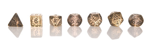 RPG dice set Stock Photos