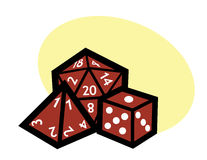 RPG dice. Vector art dice group. It would make a great logo or clip art for gamers Stock Photos