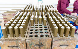 RPG explosives in munition factory Royalty Free Stock Image