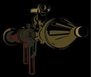 rpg för Anti--behållare bazookafärg på svart bakgrund Royaltyfri Foto