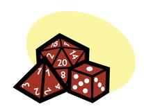 RPG kostka do gry Zdjęcia Stock