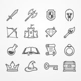 RPG PC game  line icons Royalty Free Stock Photography
