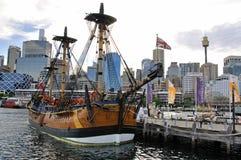Réplica do ESFORÇO, museu marítimo nacional australiano Foto de Stock Royalty Free