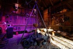 Réplica viva escandinava histórica do lugar Fotos de Stock