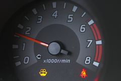 RPM. Car tach gauge Royalty Free Stock Images