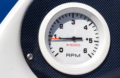 RPM boat gauge Stock Photo