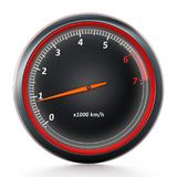 RPM meter isolated on white background. 3D illustration.  Royalty Free Stock Image
