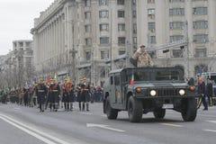 Répétition pour le défilé roumain de jour national Image stock