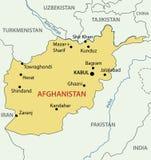 République islamique de l'Afghanistan - carte - vecteur Photographie stock libre de droits
