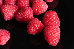 Rqaspberries Stock Foto