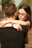 RR couple hug Royalty Free Stock Image