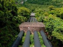 Rör för Munnar kulleKerala stora vatten Arkivfoton
