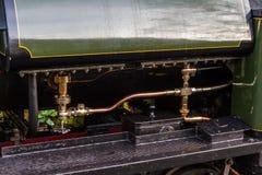 Rör och kokkärl av ångalokomotivet Royaltyfria Bilder