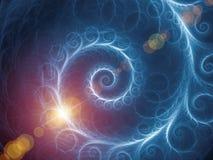 Röra sig i spiral bakgrund Royaltyfria Foton