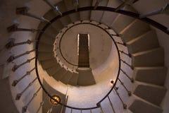 Röra sig i spiral trappuppgången Royaltyfri Fotografi