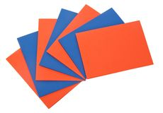 Rred and blue sheets of paper Royalty Free Stock Photo