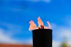 Rörelse av brandflamman Arkivbild