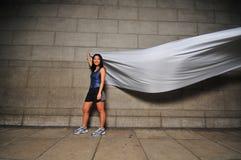 rörelse för 3 flicka Arkivfoto