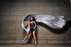 rörelse för 8 flicka Fotografering för Bildbyråer