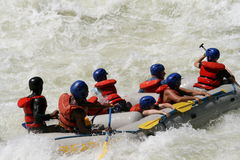 Rriver Rafting Royalty Free Stock Image