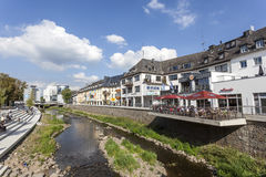Rriver Sieg dans la ville de Siegen, Allemagne Image stock