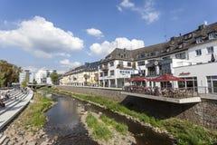 Rriver Sieg w mieście Siegen, Niemcy Obraz Stock