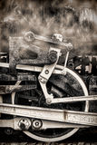 rörliga gammala hjul för rökångatappning Royaltyfri Bild