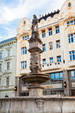 RRoland Fountain in Bratislava Old Town Stock Images