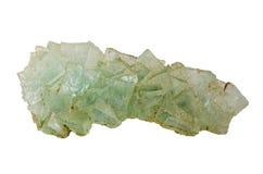 RRough rockowej soli kryształy na białym tle Zdjęcie Royalty Free