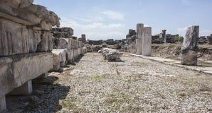 Rruins en Pamukalle, Turquía Foto de archivo libre de regalías