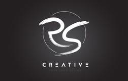 RS Brush Letter Logo Design. Artistic Handwritten Letters Logo C. RS Brush Letter Logo Design. Artistic Handwritten Brush Letters Logo Concept Vector Royalty Free Stock Images