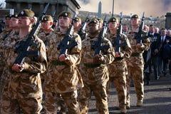 ?rs dispositifs protecteurs d'Irlandais de bataillon Photographie stock libre de droits