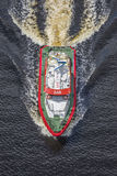 Rs 142, horn- reklamblad för räddningsaktionfartyg Arkivbild