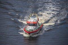 Rs 142, horn- reklamblad för räddningsaktionfartyg Arkivfoto