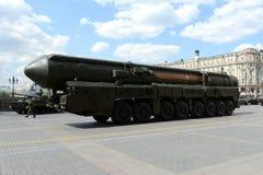 RS-24 jest rosjaninem wyposażającym, termojądrowa broń (RT-24 Yars lub CC$MR) Obrazy Stock