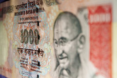 Rs. Note de devise de 1000 Indiens - plan rapproché Photographie stock