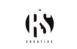 RS R S White Letter Logo Design with Circle Background. RS R S White Letter Logo Design with Circle Background Vector Illustration Template Royalty Free Stock Photos