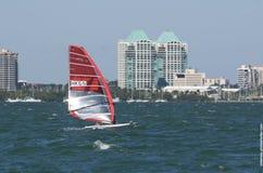 RS: XW finały przy 2013 ISAF Światową Żegluje filiżanką w Miami Obrazy Royalty Free