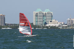 RS:XW Finals at the 2013 ISAF World Sailing Cup in Miami Royalty Free Stock Images