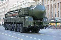 The RS-24 Yars intercontinental ballistic missile Royalty Free Stock Image
