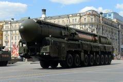 RS-24 Yars lub CC$MR jest rosjaninem wyposażającym, termojądrowej broni międzykontynentalny pocisk balistyczny Obrazy Stock